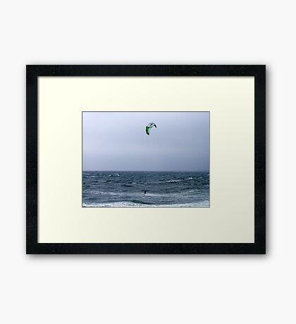 A Breezy Day Framed Print