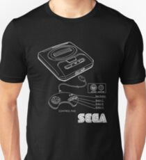 Sega Genesis Technical Diagram T-Shirt