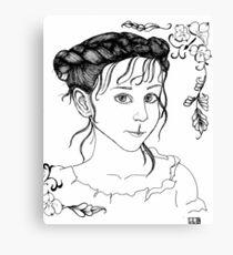 RedBubble Portrait of Gracie Canvas Print