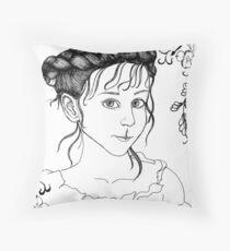 RedBubble Portrait of Gracie Throw Pillow