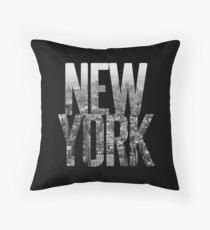 Black silhouette of  New York City Throw Pillow