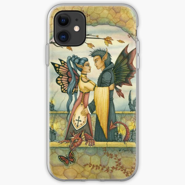 Autumn Fairies and Baby Dragon iPhone Soft Case
