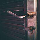 Door knob and door plate detail by Angela Ferguson