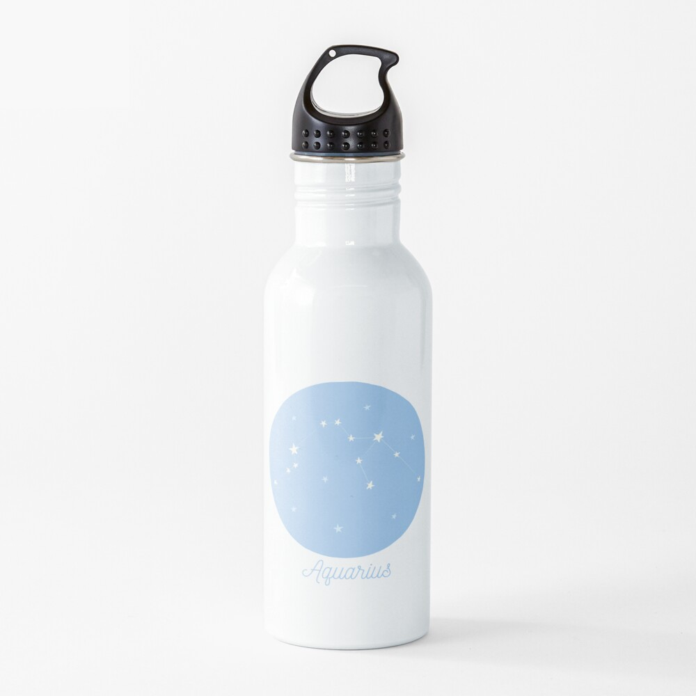 Aquarius - Zodiac Astrological Sign Constellation Water Bottle