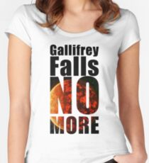 Gallifrey - No More - Simple Typography Collection Women's Fitted Scoop T-Shirt