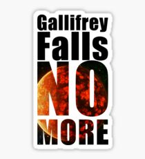 Gallifrey - No More - Simple Typography Collection Sticker