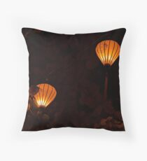 Photo of Golden Paper Lanterns Throw Pillow