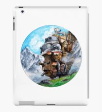 Howl's Moving Castle (Circle Scenery)  iPad Case/Skin