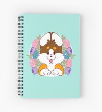 Reese the Black and Tan Corgi Spiral Notebook