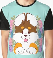 Reese the Black and Tan Corgi Graphic T-Shirt