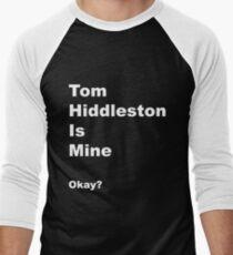 Camiseta ¾ bicolor para hombre Tom Hiddleston es mío