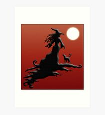 Witch's Silhouette - Prints and Cards Art Print