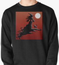 Witch's Silhouette - Clothing and Stickers Pullover Sweatshirt