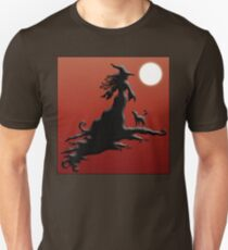 Witch's Silhouette - Clothing and Stickers Unisex T-Shirt