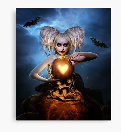 Queen of halloween Canvas Print