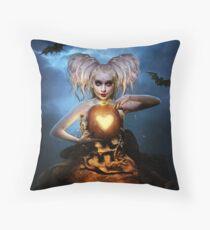 Queen of halloween Throw Pillow