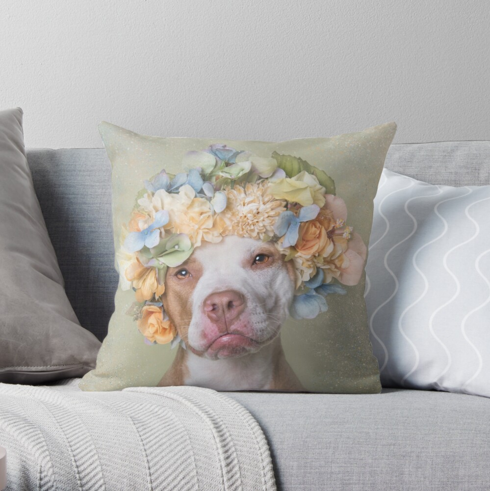 Flower Power, Lola Throw Pillow
