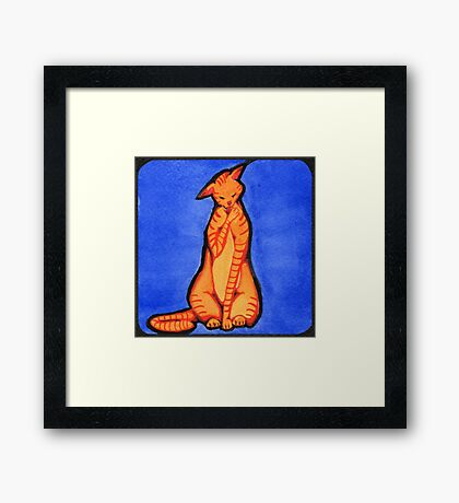 Cleaning Copper Framed Print