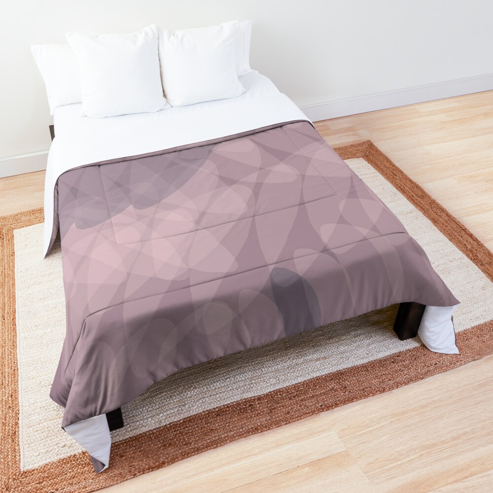 Blush Purple and Blue III Comforter