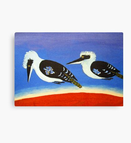 THE SHORT-SIGHTED BLUE WINGED KOOKABURRA (AUSTRALIA) Canvas Print