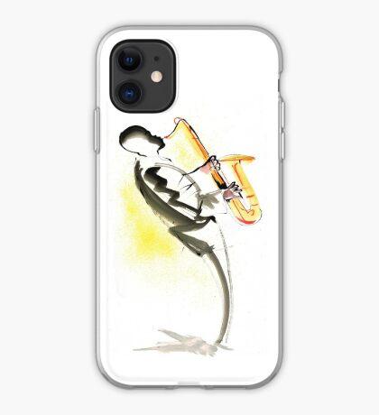 Jazz Saxophone Musician iPhone Case