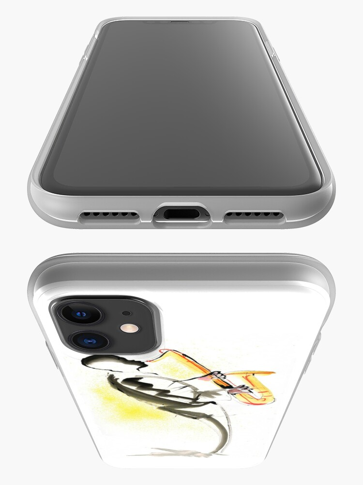 Alternate view of Jazz Saxophone Musician iPhone Case & Cover