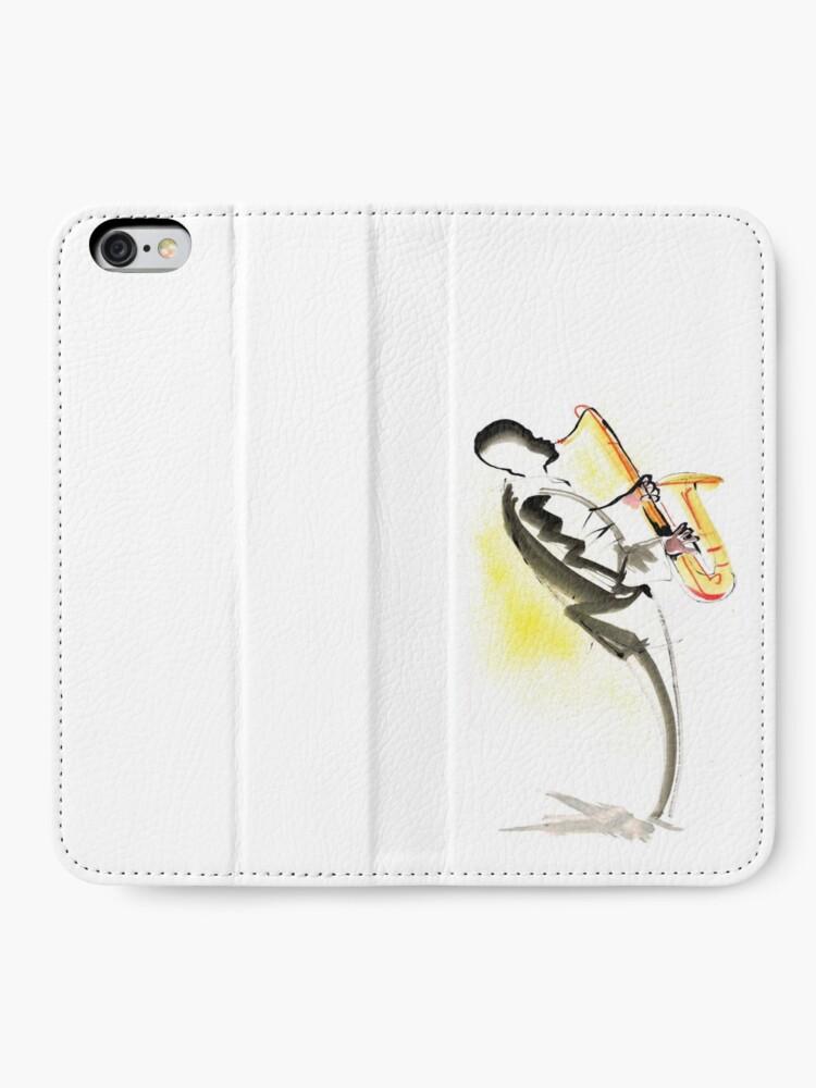 Alternate view of Jazz Saxophone Musician iPhone Wallet