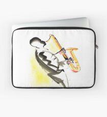 Jazz Saxophone Musician Laptop Sleeve