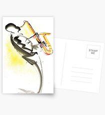 Jazz Saxophone Musician Postcards