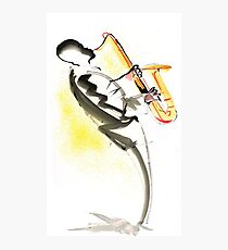 Jazz Saxophone Musician Photographic Print