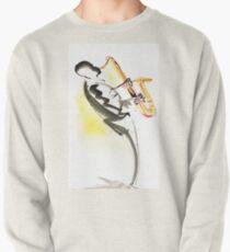 Jazz Saxophone Musician Pullover Sweatshirt