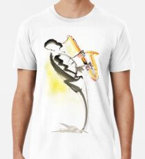 Jazz Saxophone Musician Premium T-Shirt