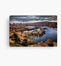 Watson Lake-Long View Canvas Print