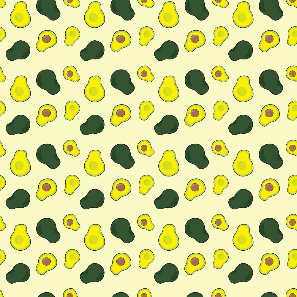 Avocado [Pattern] by Brent Pruitt