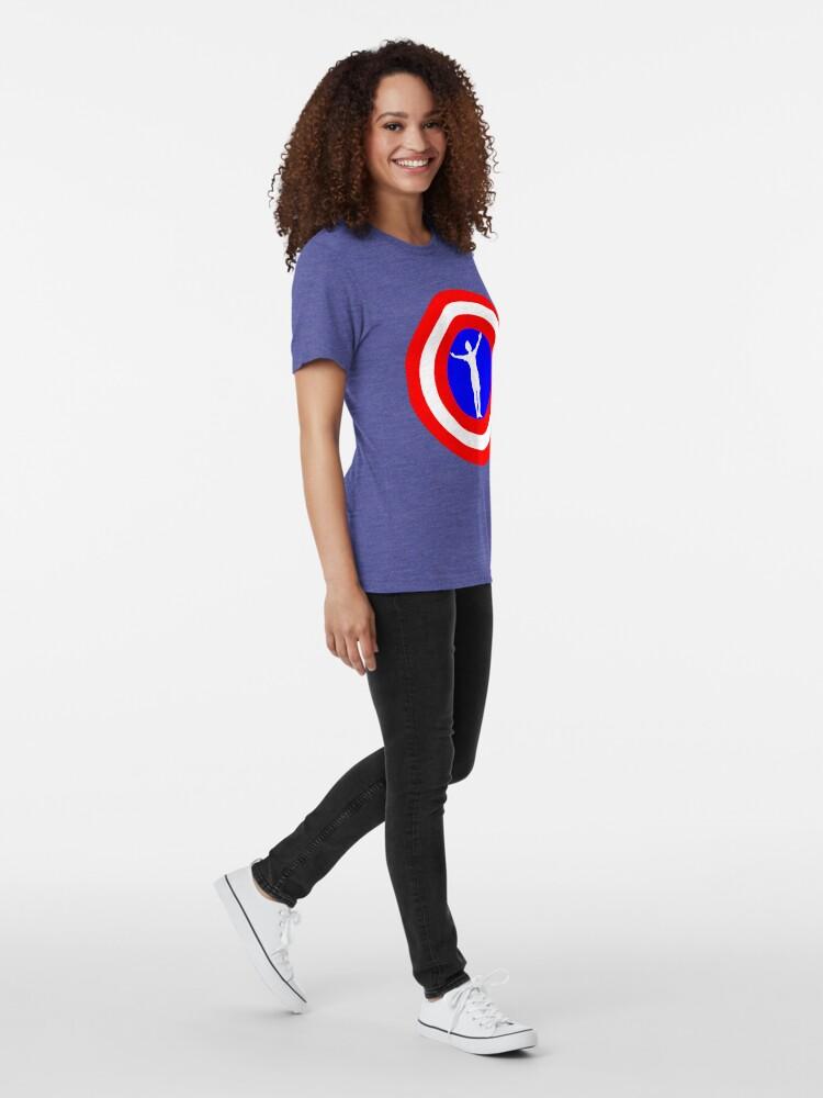 Alternate view of Megan Rapinoe goal pose Tri-blend T-Shirt