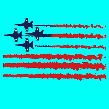 Usa flag blue angels diamond red white geek funny nerd by sayasiti