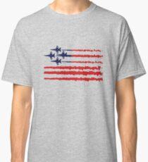 Usa flag blue angels diamond red white geek funny nerd Classic T-Shirt