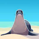 Hawaiian Monk Seal by Tami Wicinas