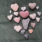 Heart o Heart Rocks - Green Background by LoveRockResidue