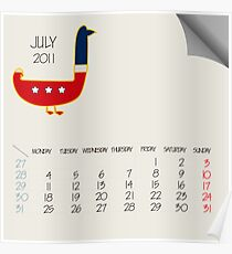 July 2011 animals Poster