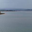 Mallacoota Lakes Panorama in the Rain by Virginia McGowan