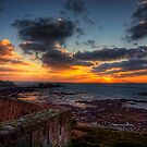 Sunset from the Wall of Fort Tourgis - Alderney by NeilAlderney