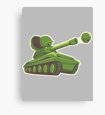 Peas and Tanks Canvas Print