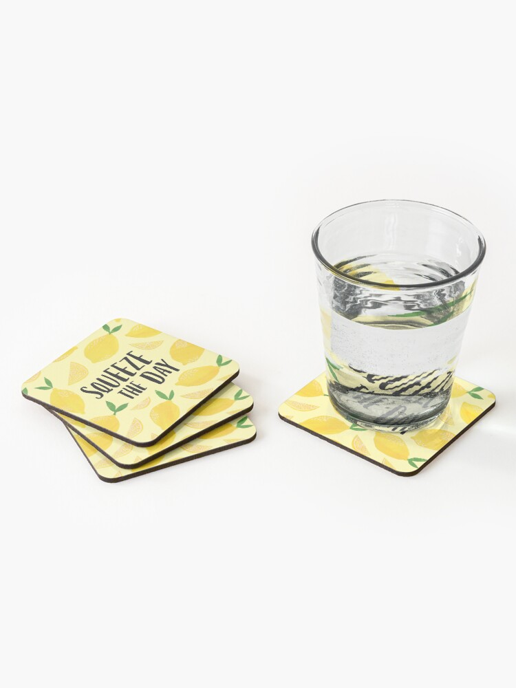 Alternate view of Squeeze the Day Coasters (Set of 4)