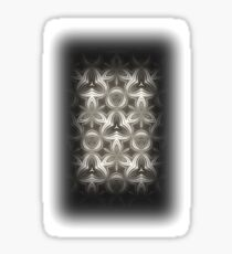 Abstract Grey Metallic Pattern Sticker