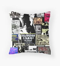 Punks are dead, not their music Throw Pillow