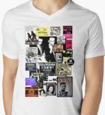 Camiseta para hombre de cuello en v Los punks están muertos, no su música