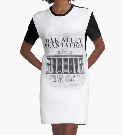 Oak Alley Plantation Graphic T-Shirt Dress
