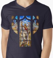 Angel of the Resurrection - Window Men's V-Neck T-Shirt