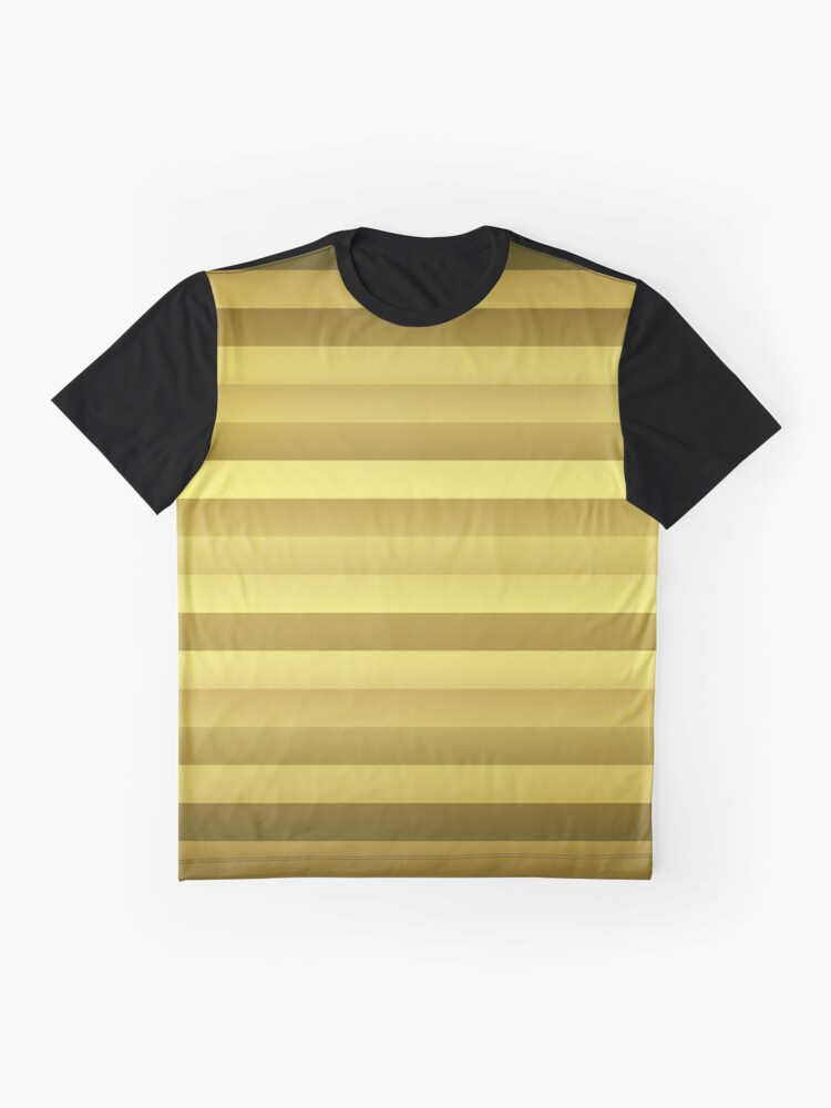 Alternate view of Antique Rose Gold and Copper Jumbo Beach Stripes Graphic T-Shirt